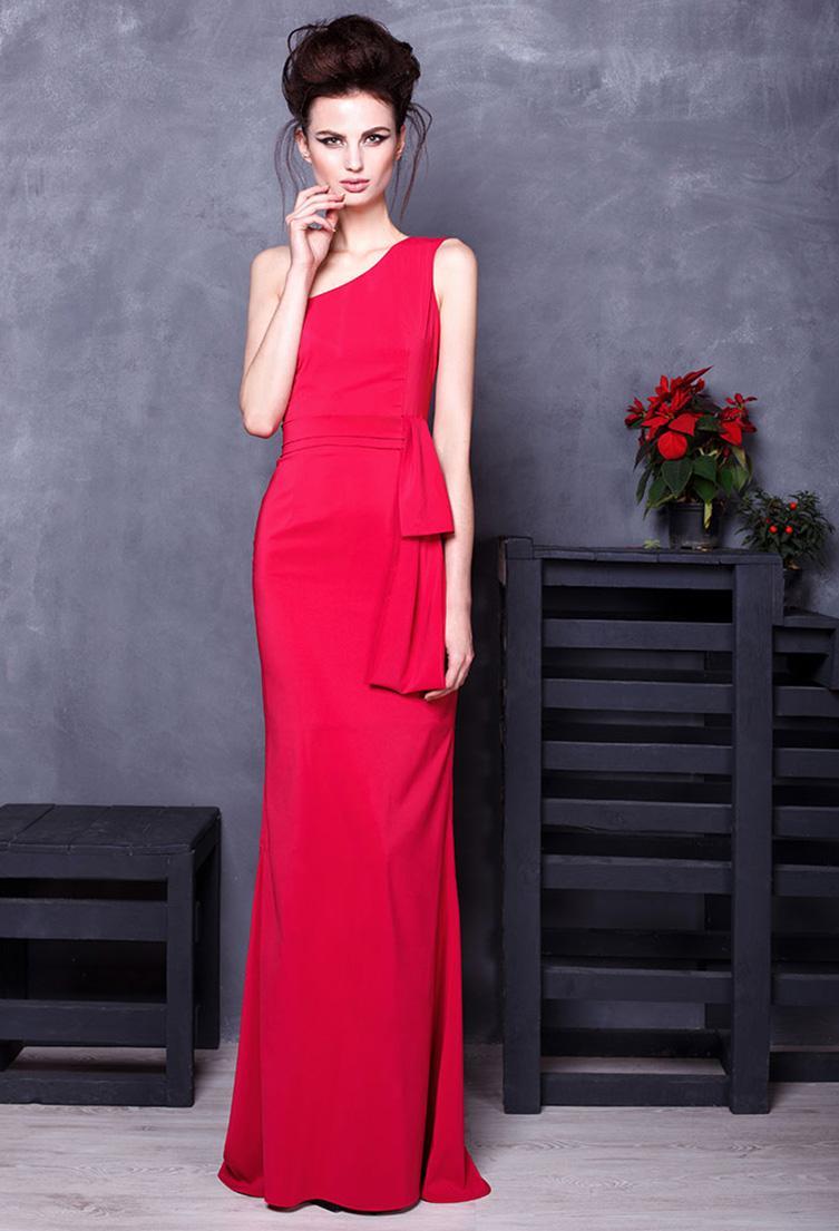 Вечернее красное платье на выпускной