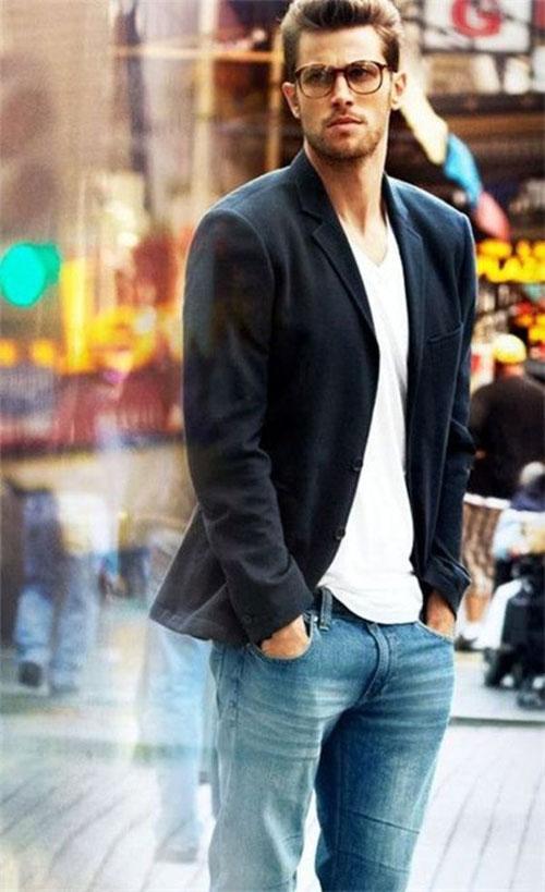 Мужские пиджаки под джинсы