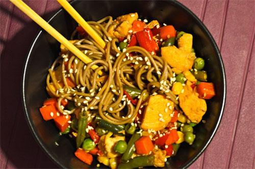 Китайская лапша с овощами и курицей рецепт пошагово