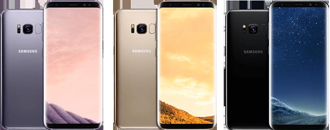Три цвета реплики смартфона Samsung Galaxy S8