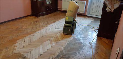 Циклевка деревянного пола и досок