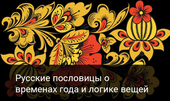Русские пословицы о временах года и логике вещей