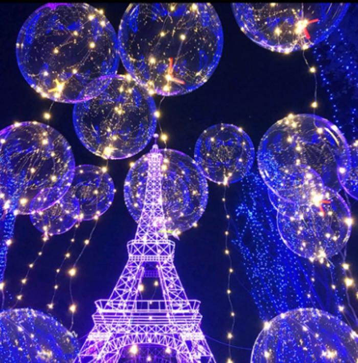 Светящиеся воздушные шары: атмосфера праздника и торжества