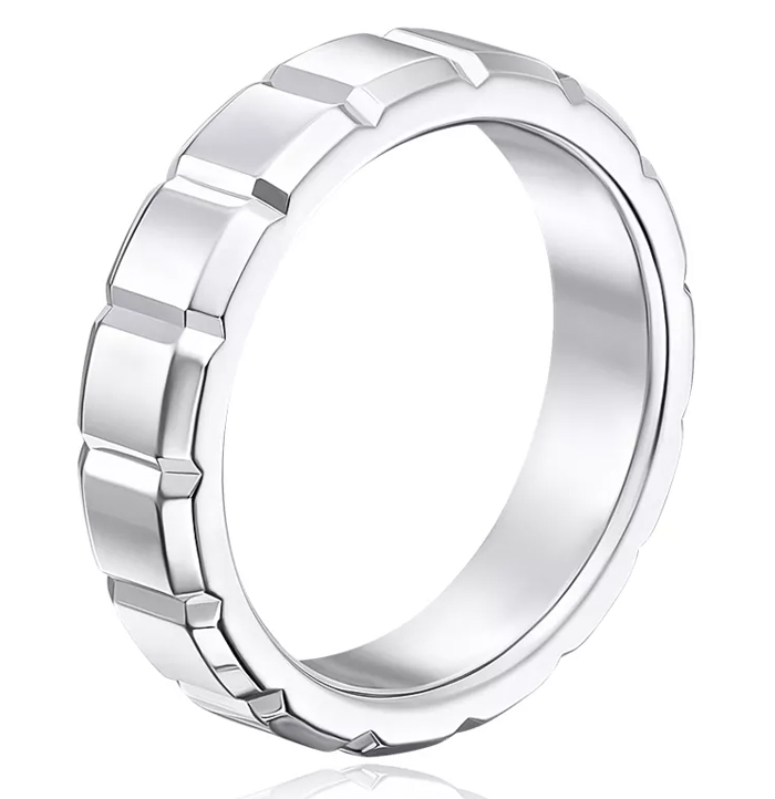 Серебряное мужское обручальное кольцо в классическом стиле все еще модно носить?